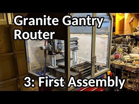 Granite Gantry Router build, part 3