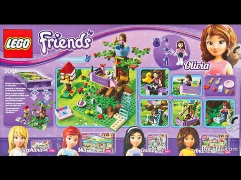 How To Build Lego 3065 Friends Olivias Tree House Instructions