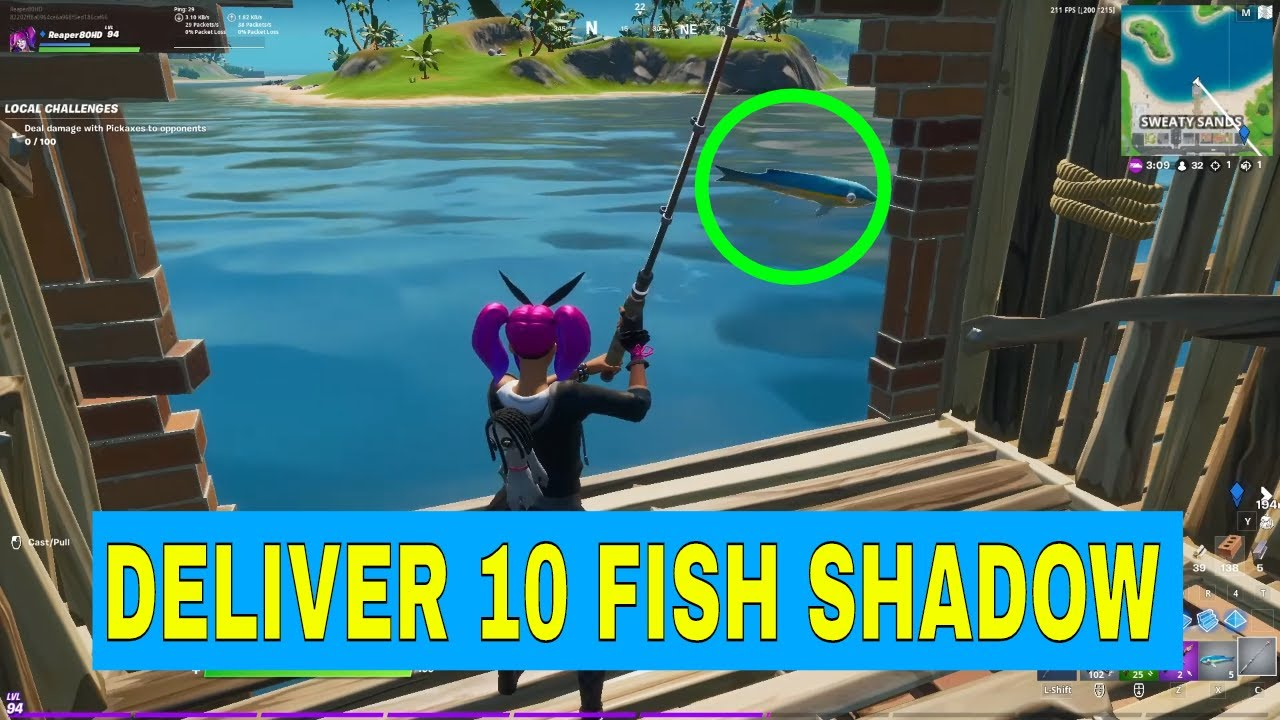 Deliver 10 Fish To Shadow Ghost Mailboxes Fortnite Battle