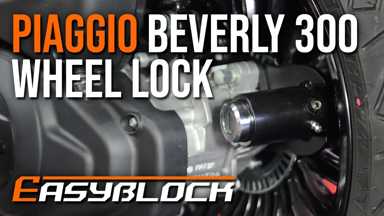 Piaggio Beverly 300 ABS - EasyBlock Scooter Security Wheel Lock - Installation Video 🔒