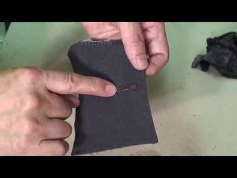How to handmake a professional button hole