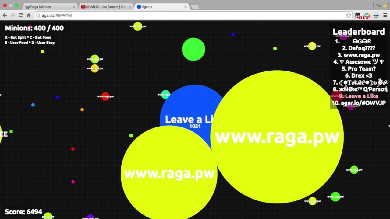 1000 RAGA BOTS!!!!!:: EPIC REAL AGAR BOT GAMEPLAY!!!!