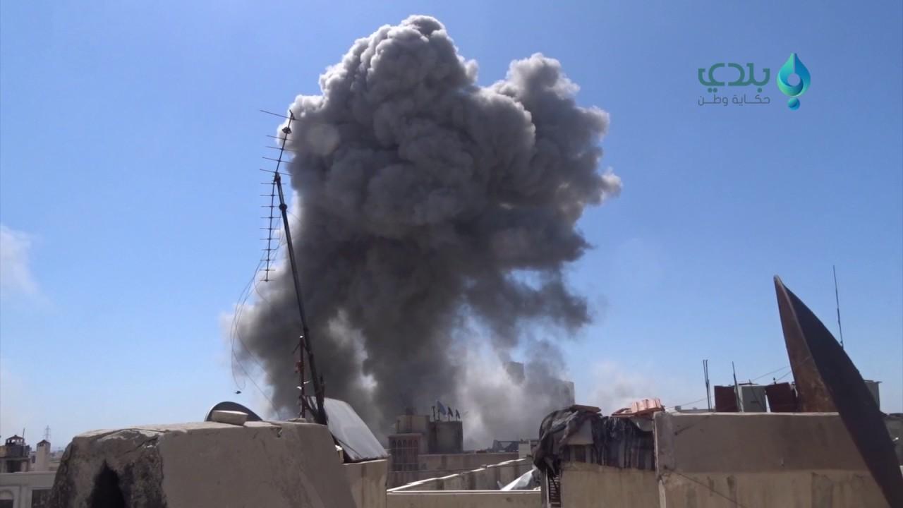 Airstrike on Qabun district  of Damascus