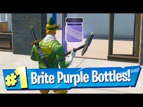 Find Bottles of Brite Purple in Retail Row Location - Fortnite