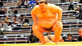 Ohara vs Orora Day 8 Sumo Hatsu Basho January 2012