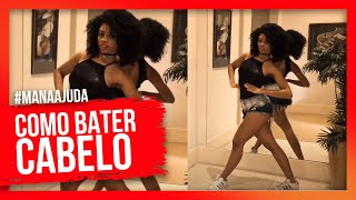 K.O- Pabllo Vittar Tutorial Coreografia ( refrão) / Como Bater cabelo?! #Manaajuda