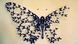 Diy: Big Butterfly Wall Decor | Бабочки на стене | Dianata Rose
