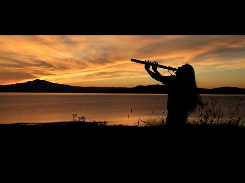 Relaxing Native American Flute and Ocean Waves Sounds - Meditate Online