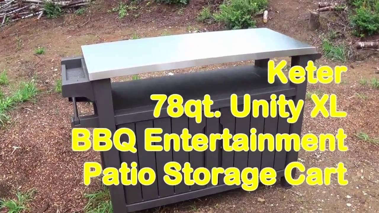 Keter Unity Xl Bbq Entertainment Patio Storage Cart