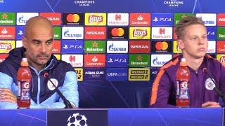 Pep Guardiola & Oleksandr Zinchenko Pre-Match Press Conference - Shakhtar Donetsk v Manchester City