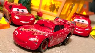 Mattel Track Damage Rusteze Lightning McQueen Custom Diecast Review