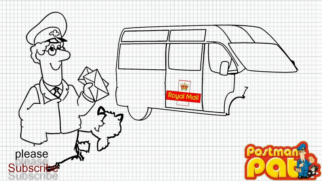 How To Draw Postman Pat