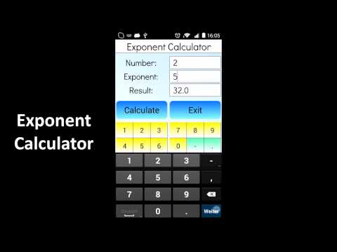 Exponent Calculator - Apps on Google Play