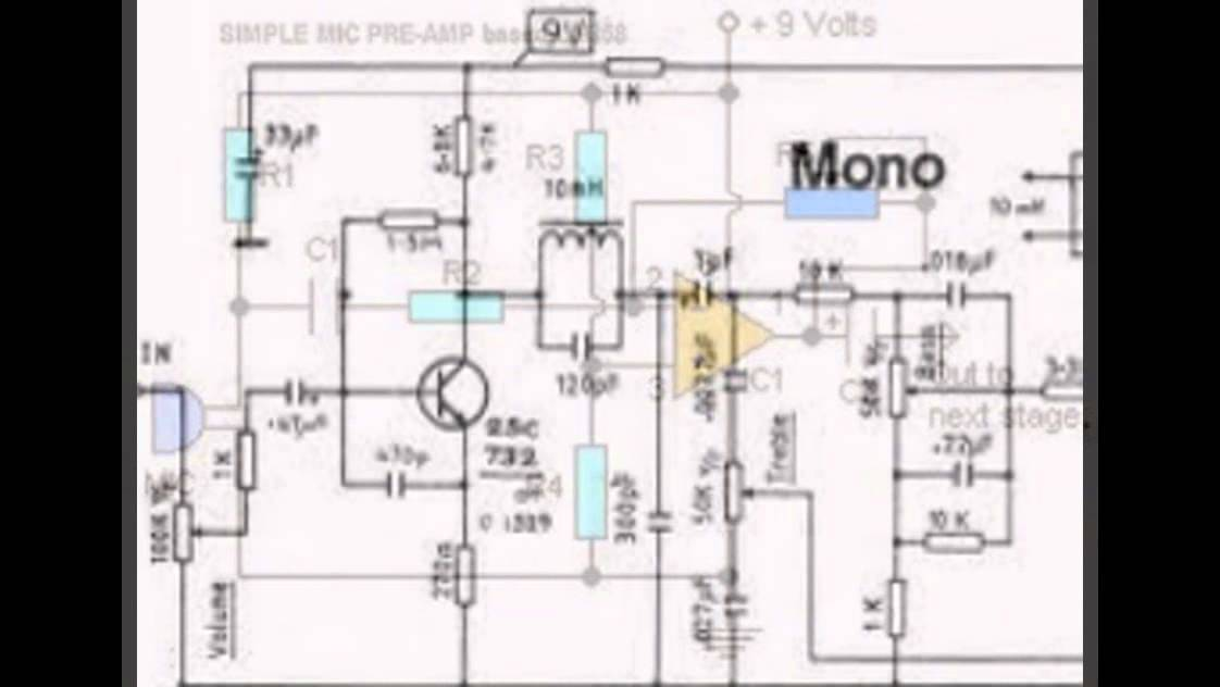 Mini Mic Pre-Amplifier Circuit based IC LM358 Ham Radio Preamp Schematic Diagram on ham radio circuits, ham radios for beginners, ham radio block diagram, ham receiver schematic,