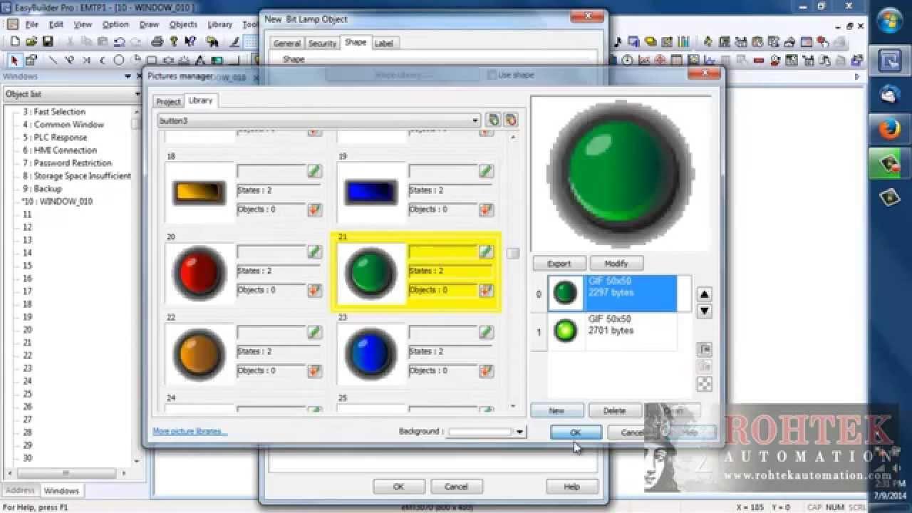 Weintek easybuilder pro tutorial 4. Manage your project youtube.
