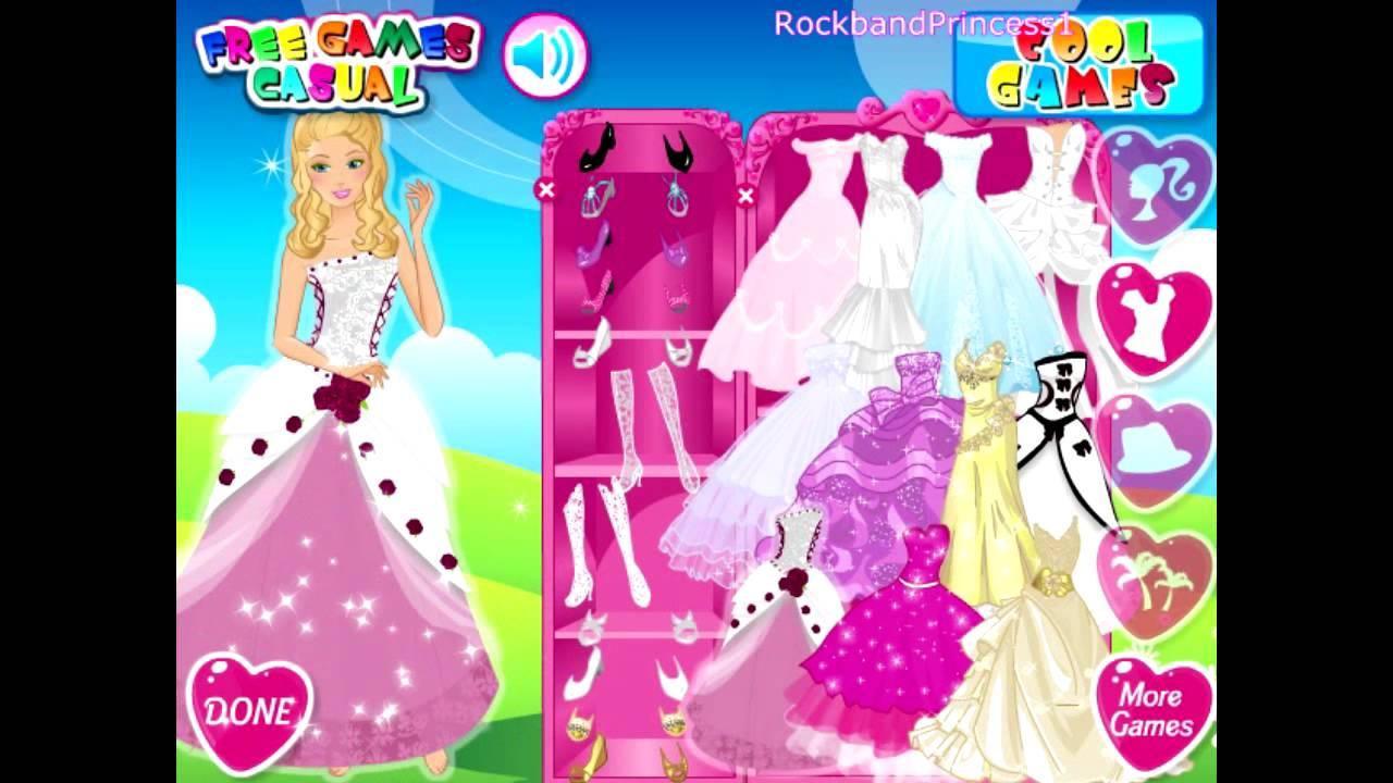 Barbie Wedding Bride - Dress Up Game - YouTube