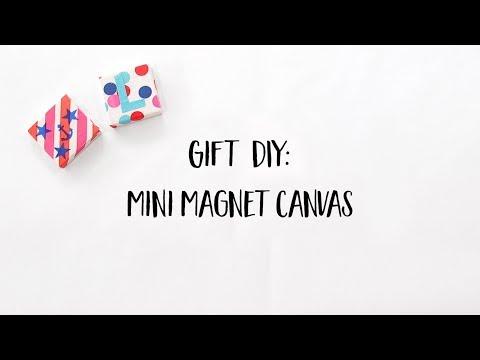 DIY Mini Canvas Magnets