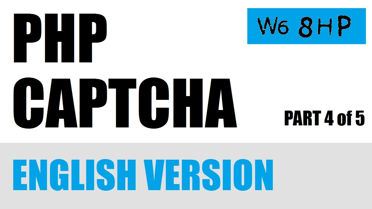 PHP Captcha Security Image Making Alpha Numeric Version Part 4 of 5 English