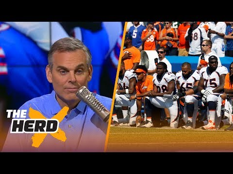 Colin Cowherd reacts to the protests during Week 3 of the 2017-18 NFL season | THE HERD