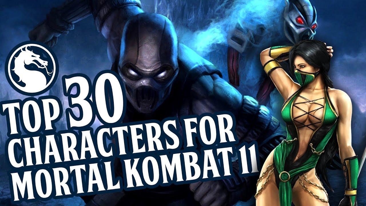 Top 30 Characters For Mortal Kombat 11 Youtube