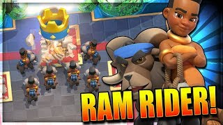 Clash Royale - New Card Ram Rider Gameplay & Ram Rider Deck - Ram R...