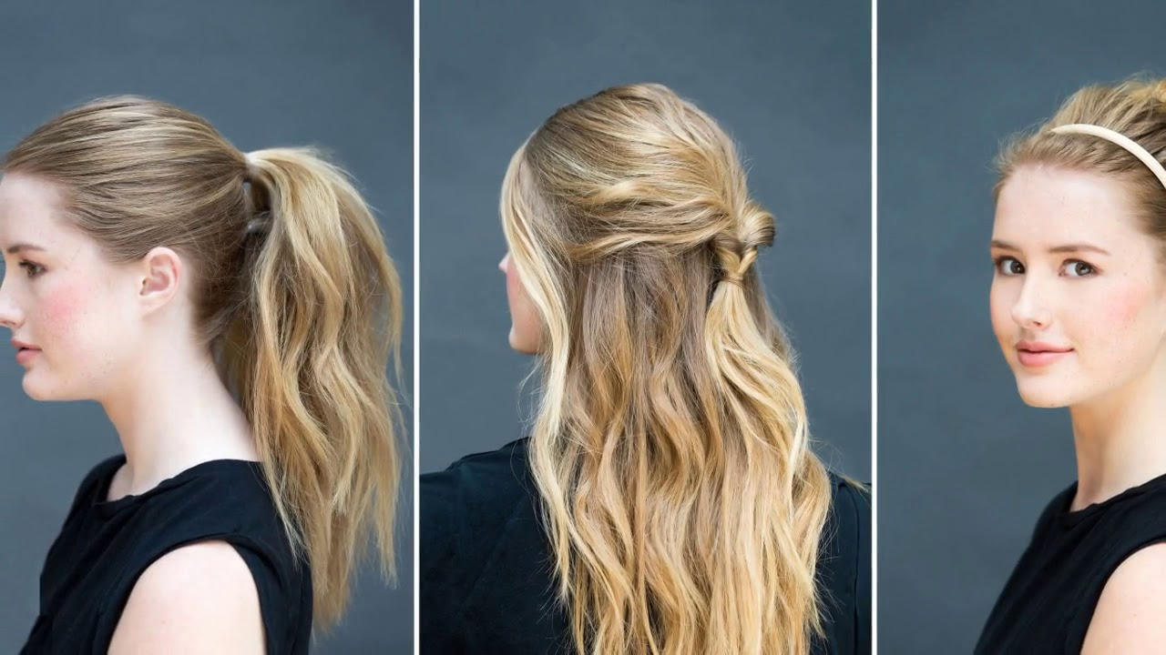 easy simple hairstyles for long straight hair