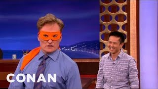 Steven Ho Helps Conan Channel His Inner Ninja Turtle