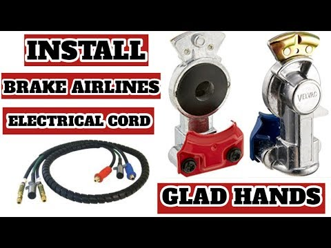 REPLACE BRAKE AIRLINES / ELECTRICAL CORD / GLAD HANDS
