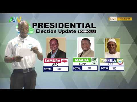 PART 2- Sierra Leone General Election: PROVISIONAL RESULTS UPDATE