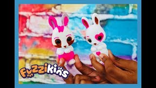 OMG! Our mum lets us DRAW ALL OVER our toys! Fuzzikins Bedtime Bunnies Unboxing