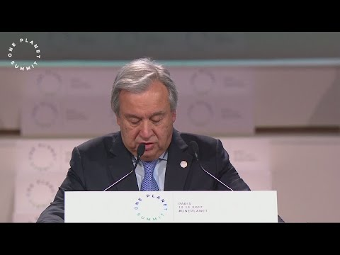 """UN Secretary General Guterres: """"Climate change is moving much faster than we are!"""""""