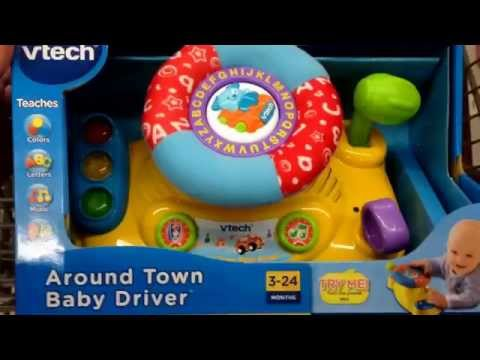 "VTECH ""Around Town Baby Driver"" Electronic Learning Baby Toy / Toy Review"