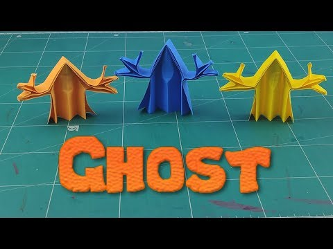 Handmade Ghost Paper | How to make Paper Ghost Tutorials | DIY 3D Ghost Paper Toy Craft Ideas