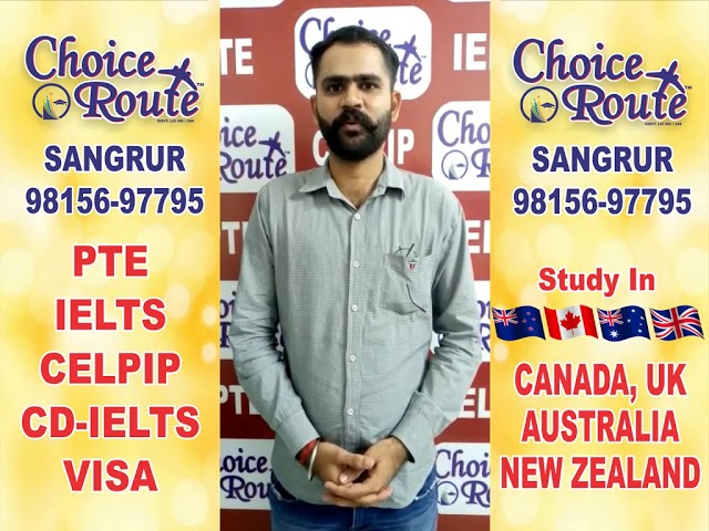 Congratulations Amandeep Singh -Choice Route is the Best PTE and IELTS institute in Sangrur City.