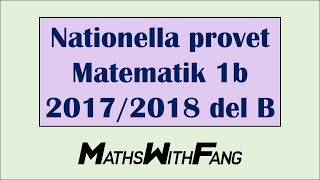 NATIONELLA PROVET I MATEMATIK 1B DEL B