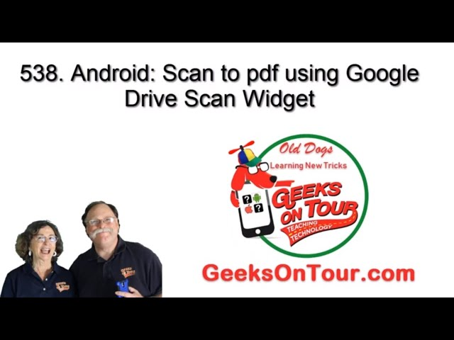 Android:How to scan to pdf with Google Drive Scan widget 538