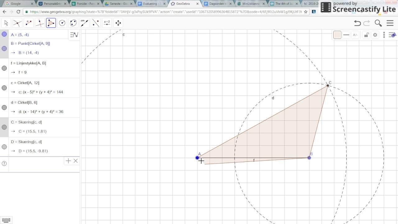 GeoGebra   trekant   areal og omkreds
