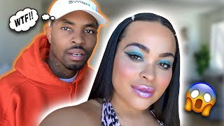 I DID MY MAKE UP HORRIBLY TO SEE HOW MY HUSBAND WOULD REACT!!! | HEATHER AND TRELL