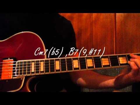 Jazz guitar chords - One Note Samba - (Chords)