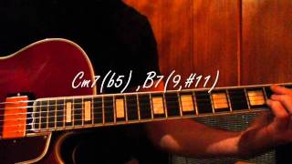 Jazz guitar chords - One Note Samba - (Chords)