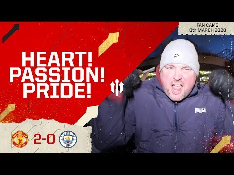 END OF THE WORLD BUT FEELING FINE! Man United 2-0 Man City | Andy Tate Fan Cam