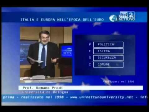 """1/2 Lezione di Romano Prodi del 1998: """"L"""