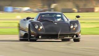 Zonda F vs Bugatti Veyron Power Lap - Top Gear - The Stig - BBC
