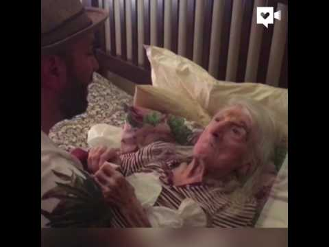 Man sings 'Unforgettable' to bedridden grandma on her 98th birthday