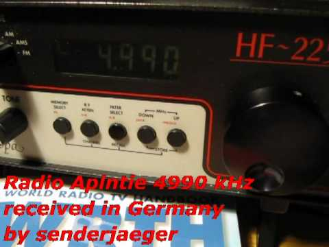 Radio Apintie 4990 kHz from Suriname received in Germany