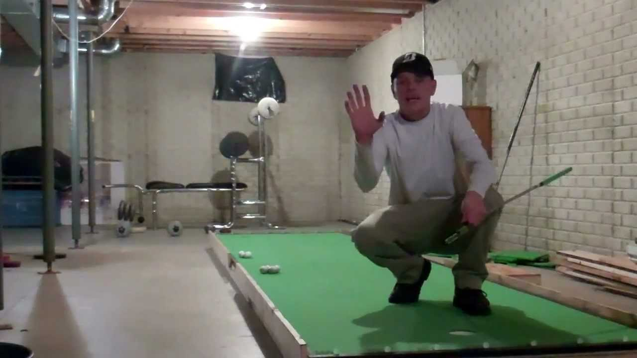 Jeremiah S Basement Putting Green Youtube