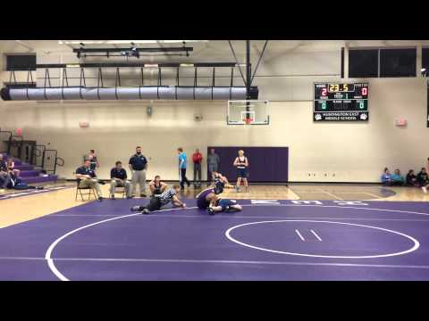Huntington East Middle School 135 pound weight class against Milton Middle School