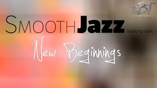 smooth jazz backing track in a major 60 bpm