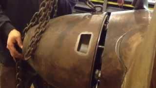 Kaplan turbine nose cone install
