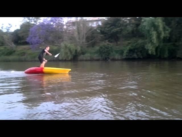 Paddleboarding the Feelfree Move Kayak